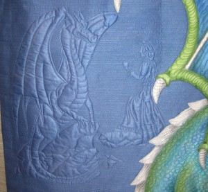 dragon quilt close up 2