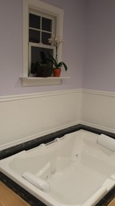 The contractor called this my 'man tub' because it could easily fit a man… Or two