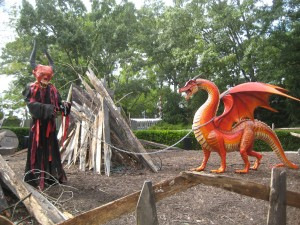 Dragons and demons go together, right? The Demon Street section of Busch Gardens  Howl-O-Scream